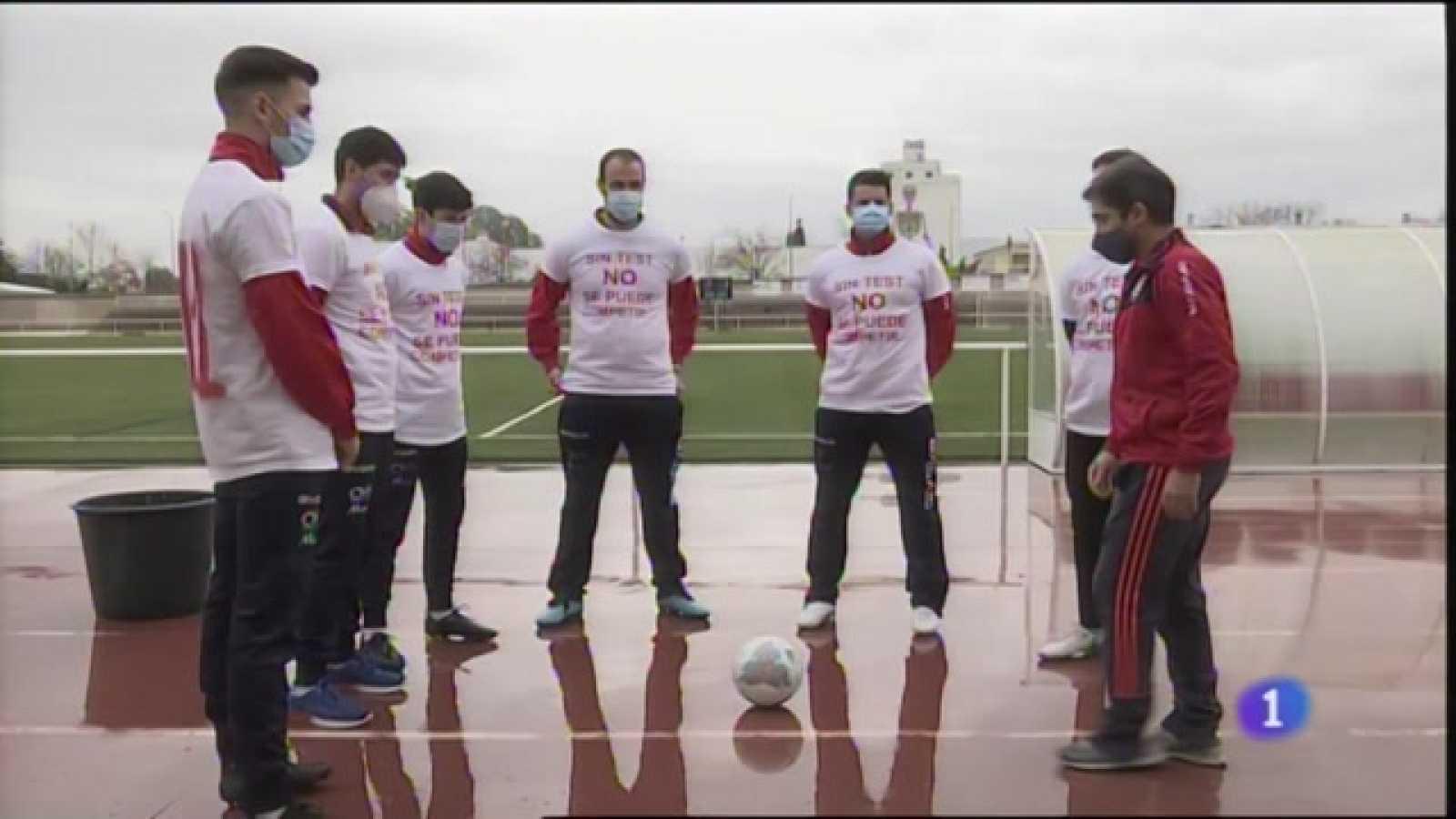 Protesta para pedir test en las categorías de fútbol modestas