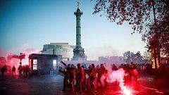 Disturbios tras una multitudinaria manifestación en París contra la polémica ley de seguridad