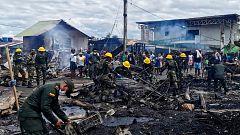 Devastador incendio en localidad colombiana de Riosucio