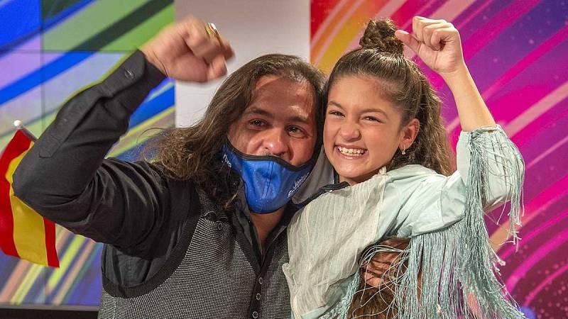 Soleá monta una fiesta flamenca para celebrar su tercera posición en Eurovisión Junior