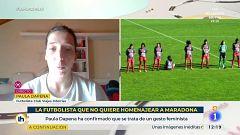 Entrevista a Paula Dapena, la futbolista que no rindió homenaje a Maradona
