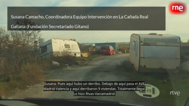 El equipo de 'Hoy empieza todo' de Radio 3 en la Cañada Real