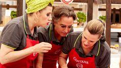 La ansiedad de Ainhoa Arteta en pleno cocinado