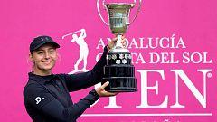 Emily Pedersen gana el Abierto de España de golf. La amateur  española Ana Peláez, la gran sensación