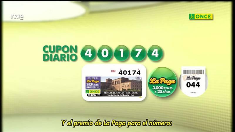 Sorteo ONCE - 30/11/20 - ver ahora