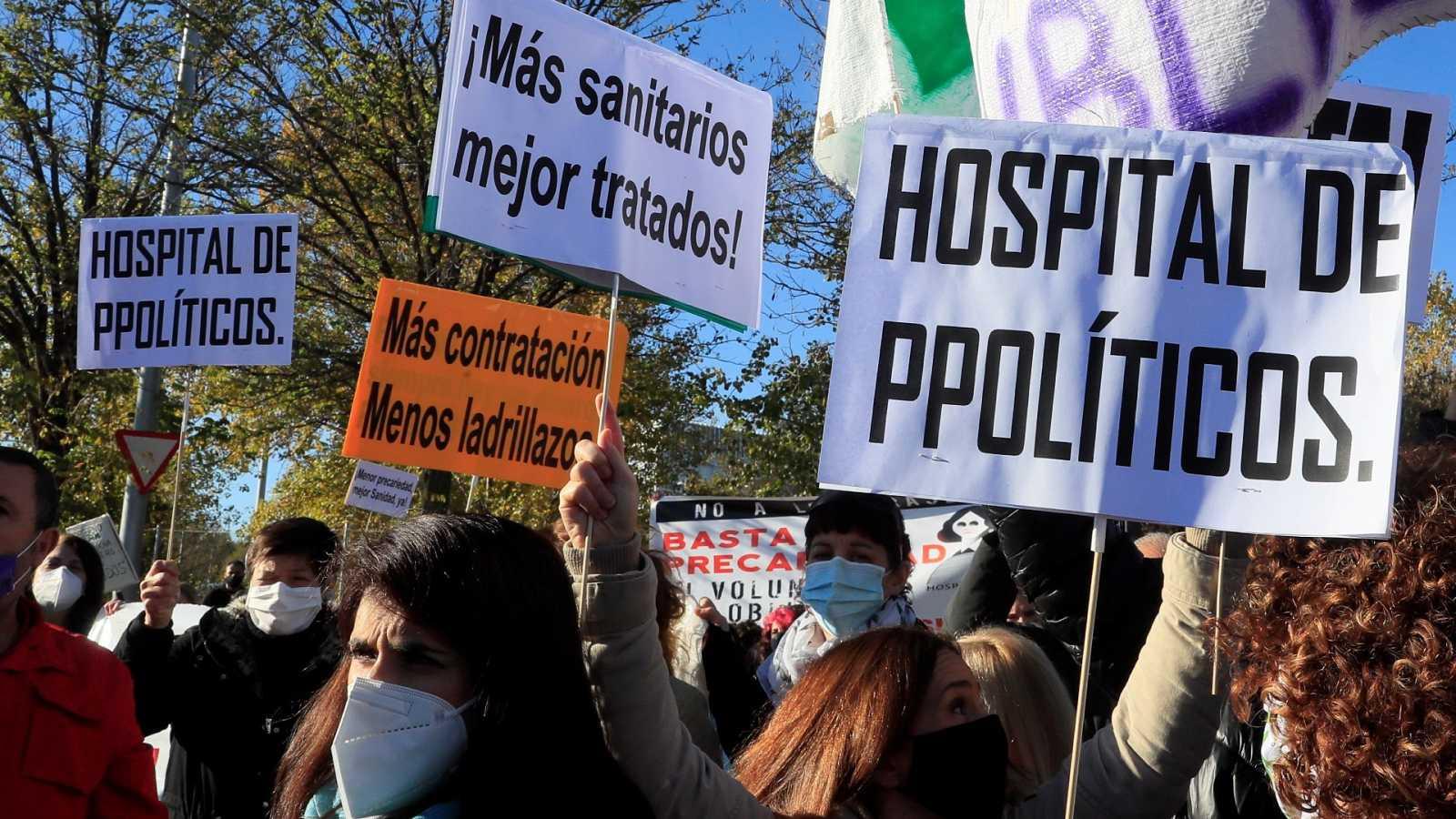"""Los sindicatos sanitarios critican la construcción del Hospital Enfermera Isabel Zendal: """"Hay camas vacías que se podían habilitar"""""""