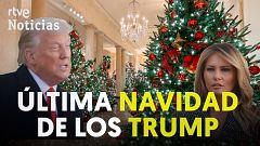 Los Trump presentan la decoración para su última Navidad en la Casa Blanca