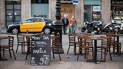 Las terrazas en la calzada, solución para la hostelería de Barcelona ante las restricciones