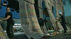 La escenografía de Mestres Cabanes para Aida, en El Palco