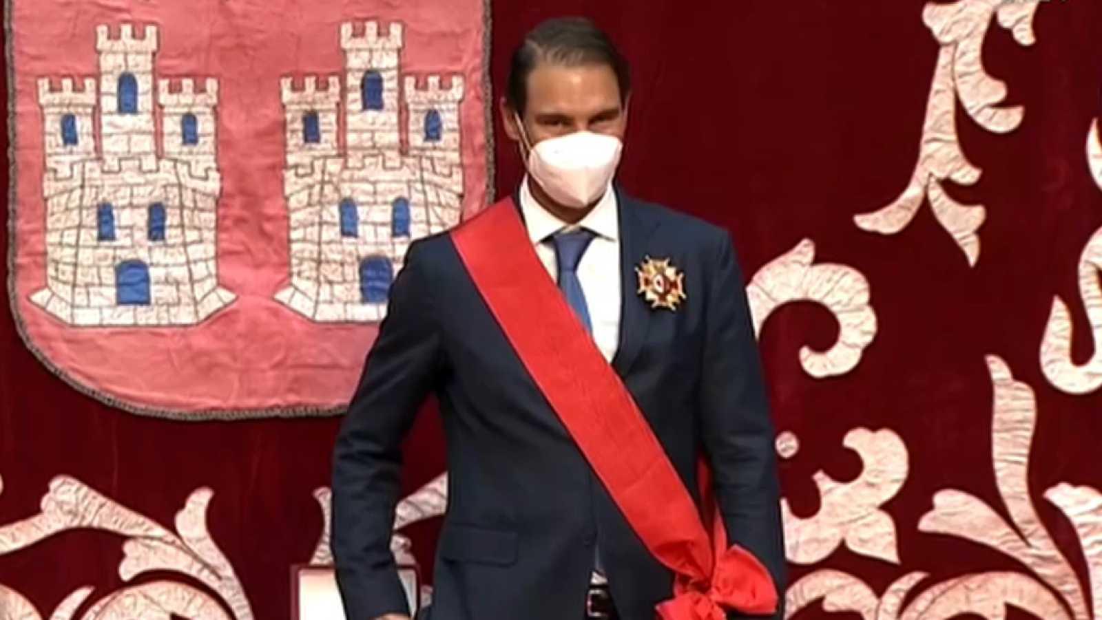 Rafa Nadal recibe la Gran Cruz de la Orden del Dos de Mayo