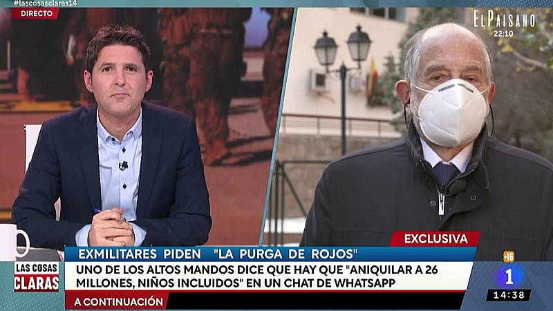 """José Ignacio Domínguez, teniendo coronel del Ejército del Aire retirado: """"Estuvieron a punto de pedir audiencia al Rey para que"""