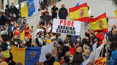 Nueva manifestación en Canarias contra la acogida de migrantes
