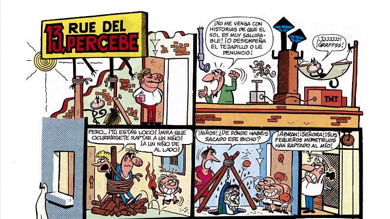 Imprescindibles explica cómo Ibáñez dibujaba el edificio del 13 Rue del Percebe.