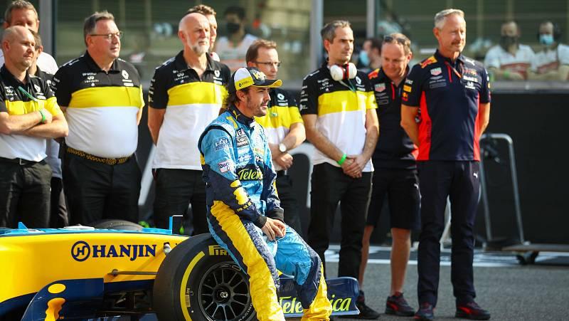 Fernando Alonso, el más rápido de los test de Abu Dabi