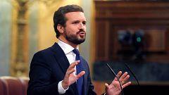 """Casado exige a Sánchez que pida perdón por su """"incompetencia"""" en la gestión de la pandemia"""