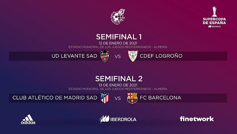 At. Madrid-Barça, duelo en semifinales de la Supercopa de España de fútbol femenino