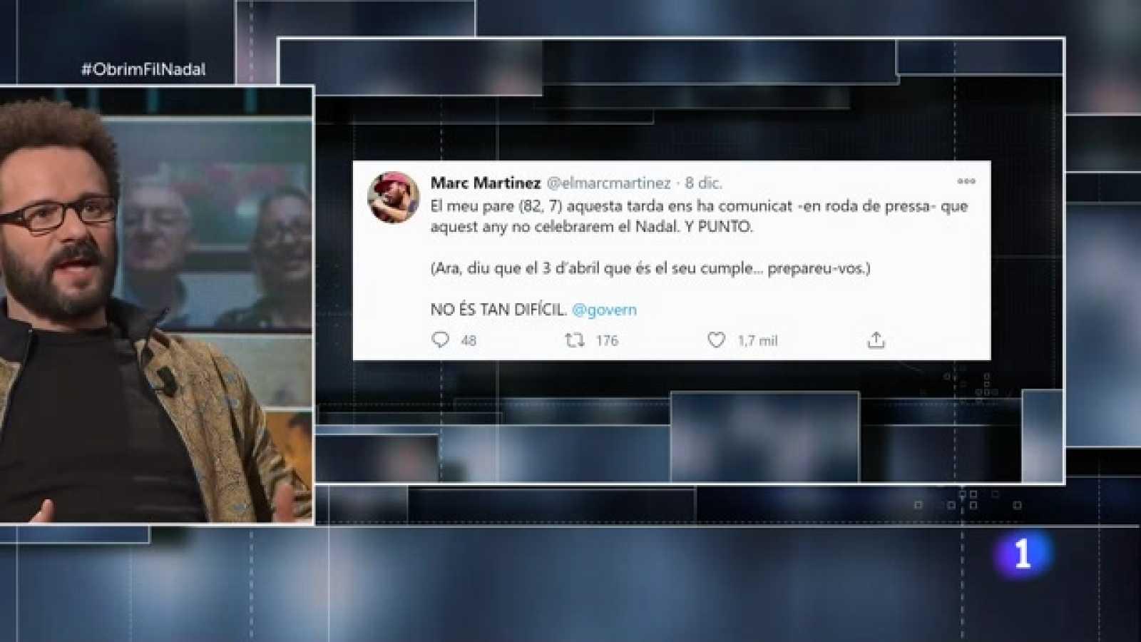 Obrim fil - L'actor Marc Martínez, sense Nadal en família