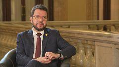 Pere Aragonès, vicepresident amb funcions de president