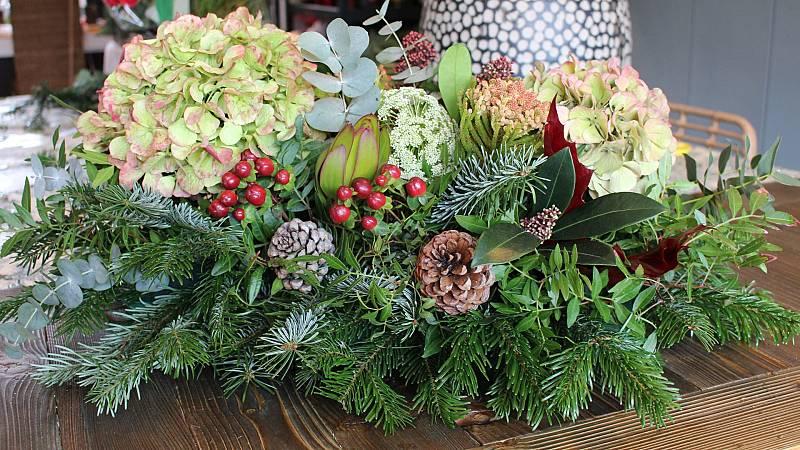 Haz tu propio centro de plantas para decorar en Navidad