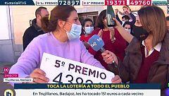 En Trujillanos, Badajoz, ha tocado poco... ¡pero a todos!