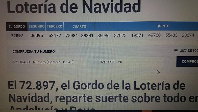 Premios, anécdotas y el comprobador de décimos en RTVE.es