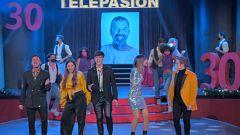 Telepasión 2020 - Bruno, Flavio, Eva, Maialen y Gèrard de OT 2020 cantan Jarabe de Palo