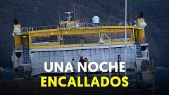 59 pasajeros pasan 14 horas en un ferry encallados frente a Agaete