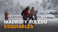 La histórica nevada deja calles con esquiadores e imágenes insólitas en varias ciudades