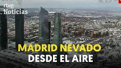 Lo que no has visto: la histórica nevada en Madrid, desde el aire
