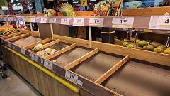 Los supermercados han empezado a acusar falta de productos frescos debido al temporal