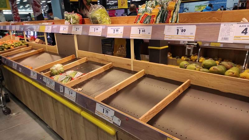 Filomena provoca también desabastecimientos, los supermercados empiecen a acusar falta de productos frescos
