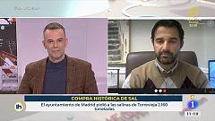 """Eduardo Dolón, alcalde de Torrevieja: """"Estamos enviando la sal de Torrevieja no solo a nuestro país, si no a todo el mundo"""""""