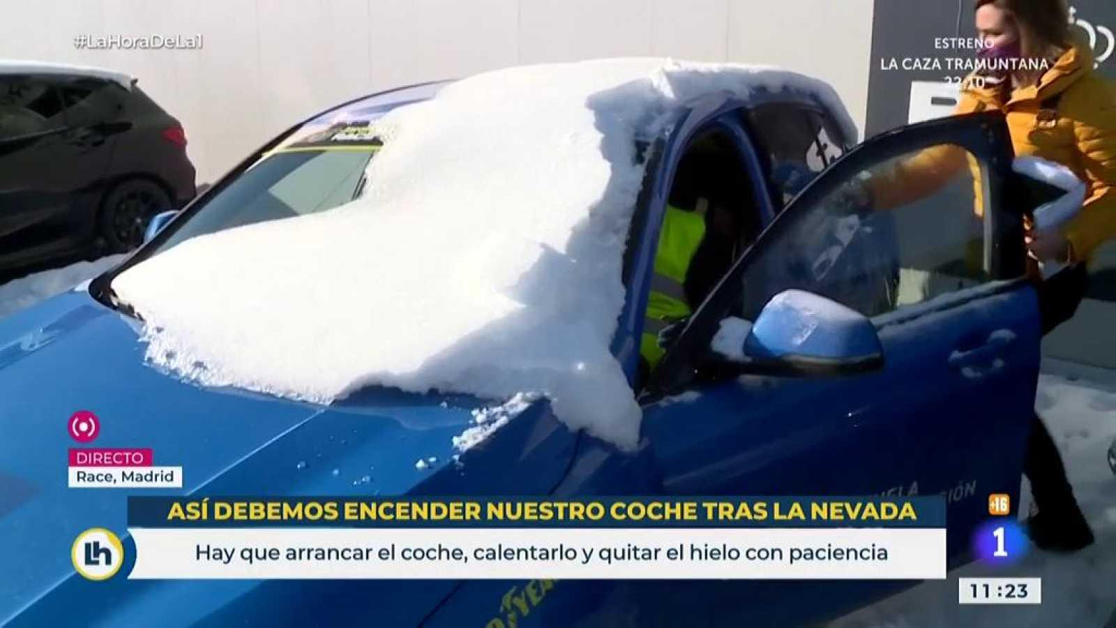 La Hora - Así debemos arrancar el coche tras la nevada