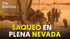 Desvalijan en Madrid un camión con 20 toneladas de comida durante la nevada