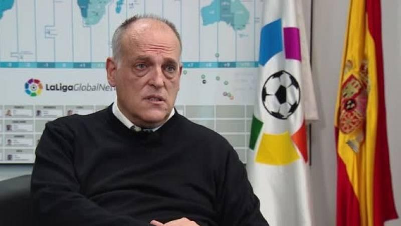 """Tebas: """"Me ha enfadado la versión que se ha dado del viaje del Real Madrid a Pamplona"""""""