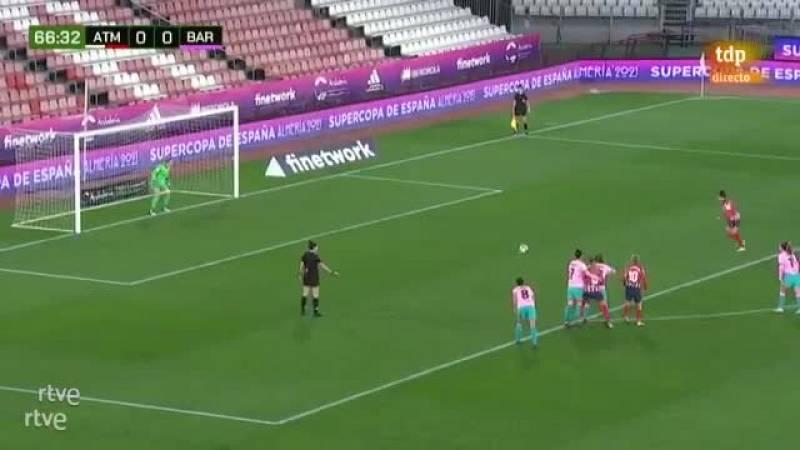 Van Dongen adelanta al Atlético de penalti (1-0)