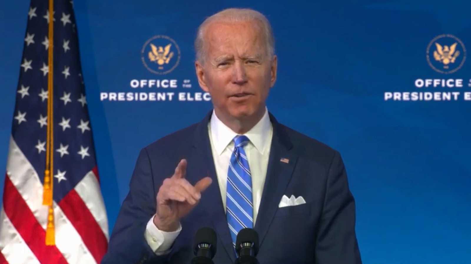 Biden presenta un plan de estímulo de 1,9 billones de dólares para reflotar la economía y frenar el impacto de la pandemia
