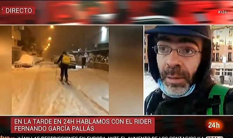 """La mayoría de las calles de Madrid siguen bloqueadas: """"Aquí nos caemos todos"""""""