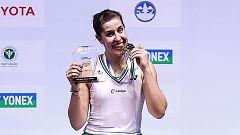 Carolina Marín vence a la número uno del mundo y gana en Tailandia
