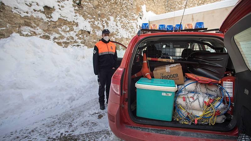 Morella, en Castellón, recupera la normalidad una semana después del paso del temporal Filomena