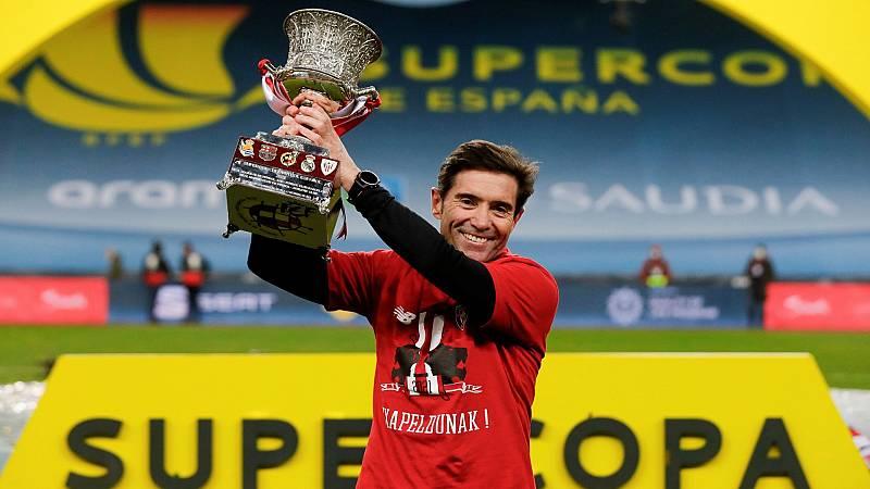 """Marcelino García Toral: """"Lograr un título ganando a Madrid y Barça es un de un mérito muy grande"""""""