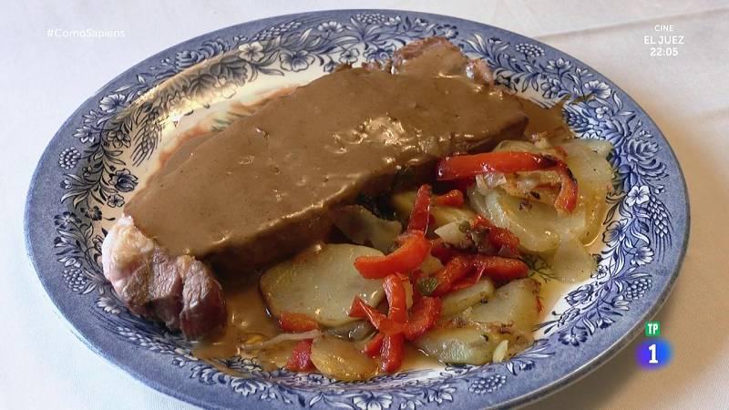 Receta de entrecot a la salsa de pimienta con papas panaderas