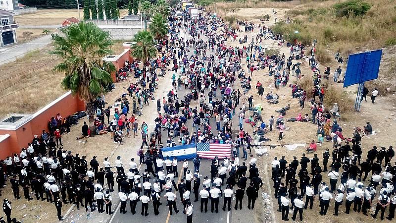 La caravana de migrantes hondureños espera una relajación en la frontera de Estados Unidos con Joe Biden