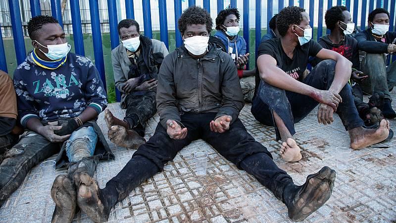 87 migrantes han entrado en Melilla saltando la valla