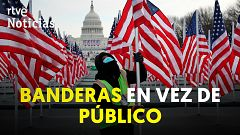 Casi 200.000 banderas sustituirán al público en la toma de posesión de Joe Biden