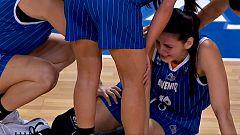Lesión de Marica Galic durante el partido