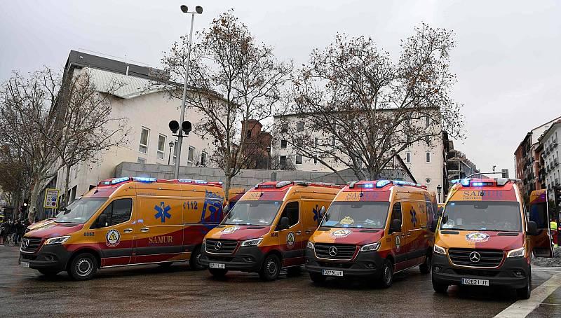 Varios heridos tras una explosión en un edificio del centro de Madrid