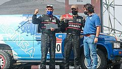 Los hermanos Benavente regresan tras  disputar su primer Dakar con un coche hecho en Cantabria