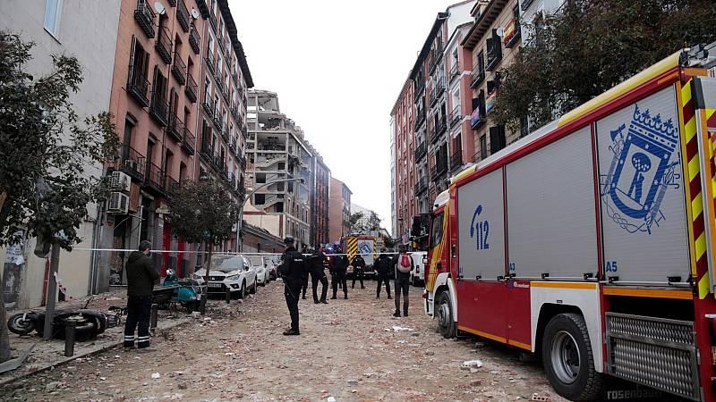 Al menos tres muertos y varios heridos tras la explosión de un edificio en el centro de Madrid