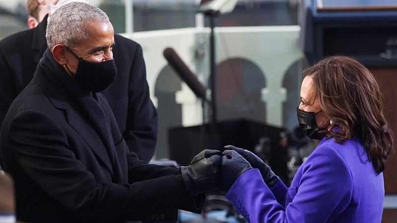 Kamala Harris toma posesión como vicepresidenta de Estados Unidos